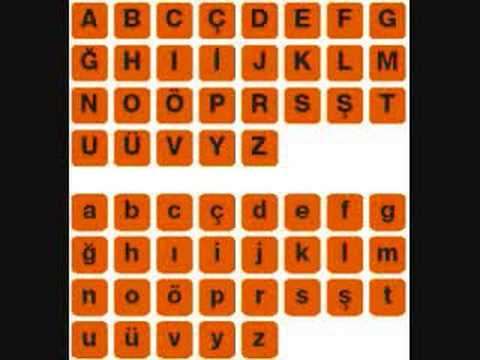 turkish alphabet song :)