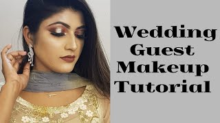 Wedding guest/ party makeup tutorial || Make it glow by afroza ete