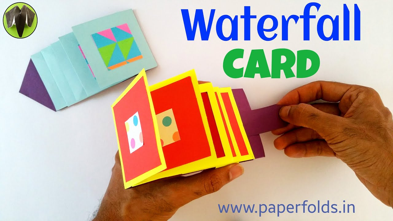 Waterfall greetings card diy tutorial by paper folds youtube kristyandbryce Choice Image