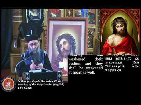 Tuesday of the Holy Pascha English 14/04/2020