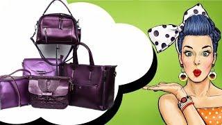 Обзор ярких фиолетовых женских сумок из натуральной кожи