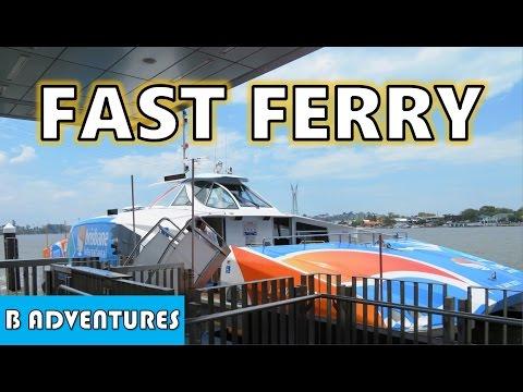 CityCat Fast Ferry, Brisbane River, AU Vlog #23