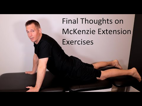 Final Thoughts on McKenzie Extension Exercise