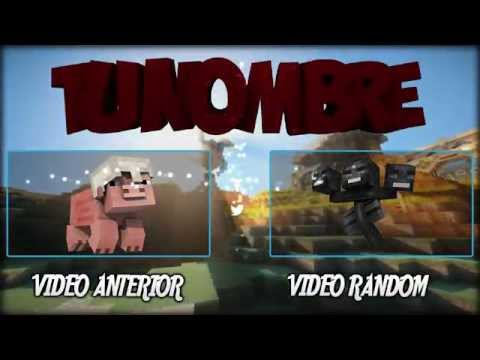 OUTRO MINECRAFT EDITABLE || SONY VEGAS Y PSD FREE DOWNLOAD