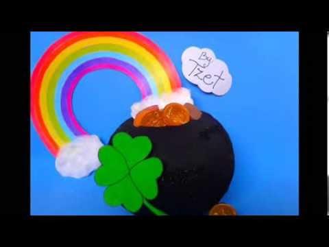 Diy Paper Mache Gold Pot St Patricks Day Manualidades