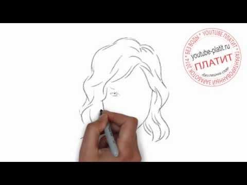 брюнетки картинки нарисованные карандашом
