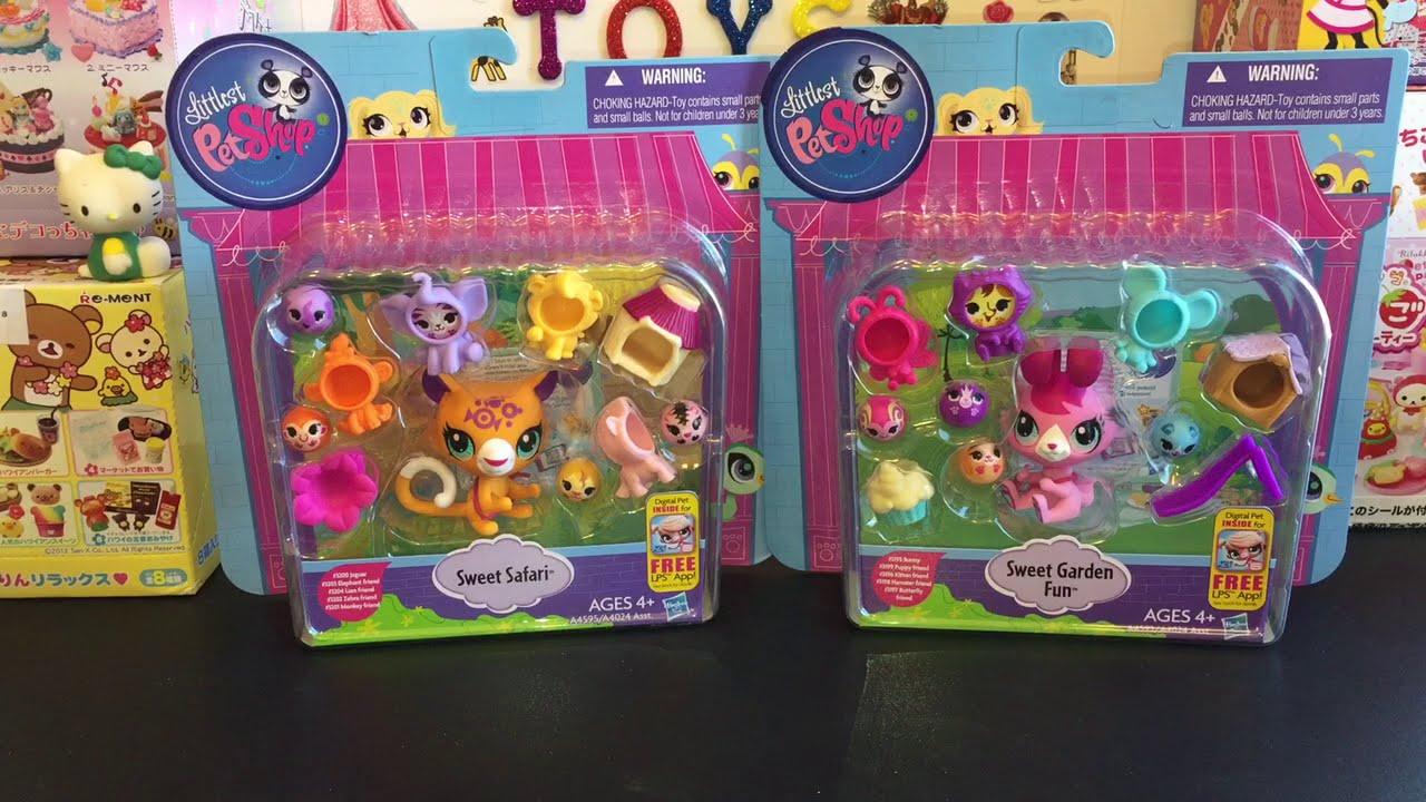 Littlest Pet Shop Sweet Safari & Garden Fun LPS Toy Opening