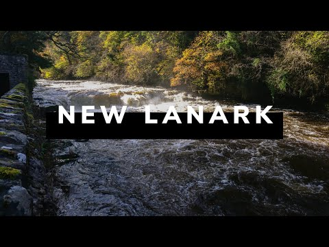 #3 Scotland from Drone: Falls of Clyde, New Lanark Waterfalls
