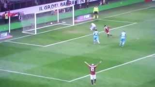 Milan - Napoli 1-1 - Il gol di Flamini (14.4.2013)