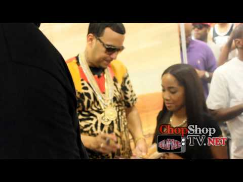 FRENCH MONTANA EXCUSE MY FRENCH ALBUM SIGNING AT HALL OF A FAME MUSIC STORE QUEENS, NY