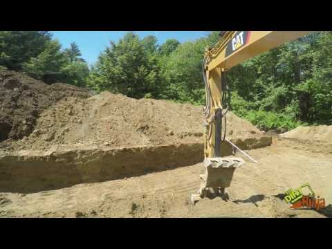 Cat 313F GC Excavating For New Foundation
