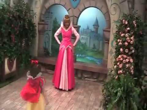 Meeting princesses at Disneyland park