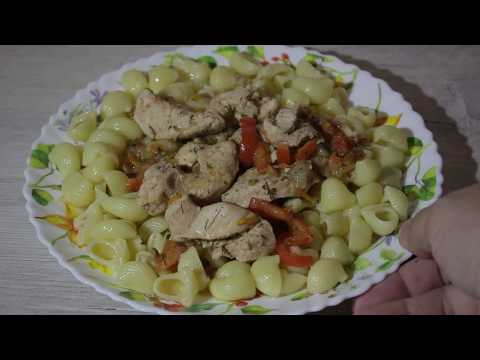 Куриная грудка с перцем болгарским в мультиварке