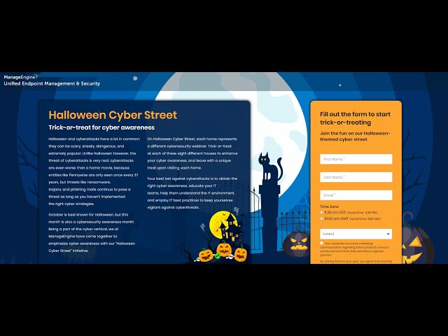 Halloween Cyber Street  Trick or Treat for Cyber Awareness