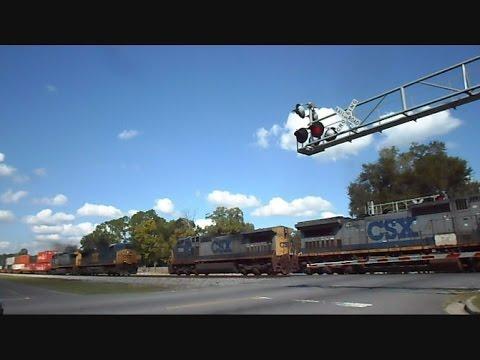CSX Trains Meet Head To Head Folkston Georgia