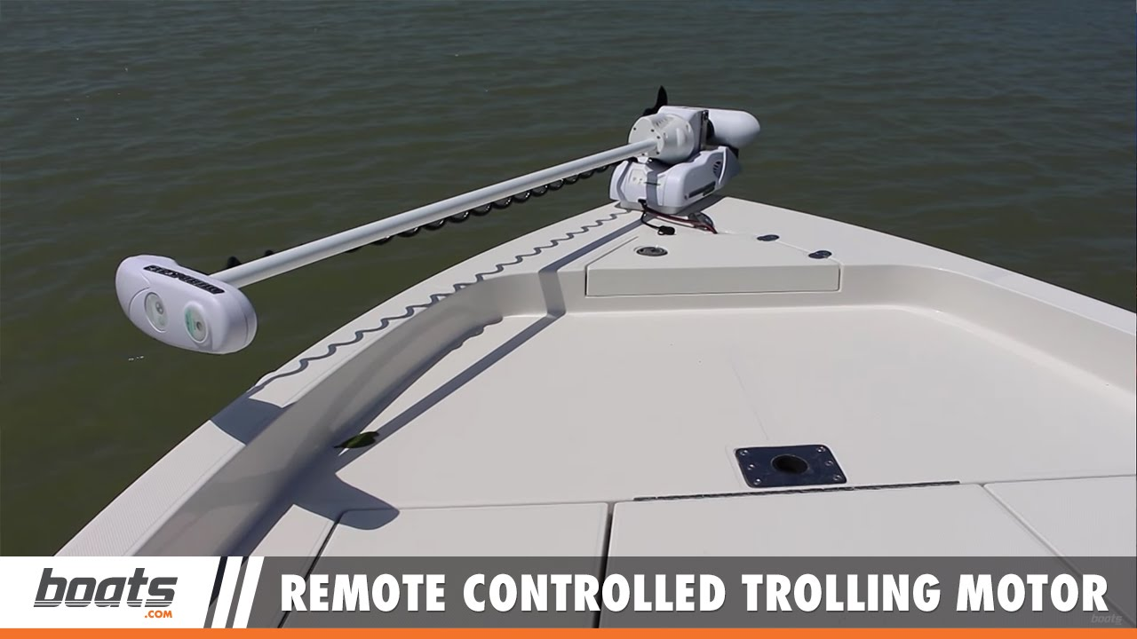 A Remote Controlled Trolling Motor In Action