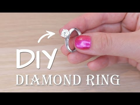 DIY DIAMOND RING IMPROVED VERSION !! FROM UV RESIN AND LIQUID GILDING PAINT