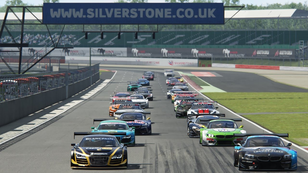 Race Start GT3 Cup 2016 @ Silverstone Assetto Corsa - YouTube