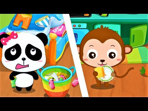 Baby Panda Gets Organized - Teach Children To Clean The Room - Fun Educational Game Video