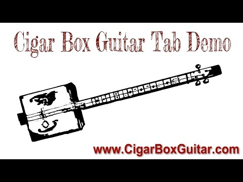 boogie in g - 3-string cigar box guitar tablature demo - open g gdg