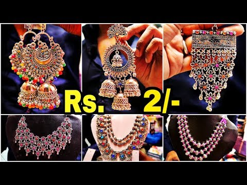 Cheapest Oxidised Jewellery Wholesale Market  New Collecion || Junk Jewellery Market in Kolkata