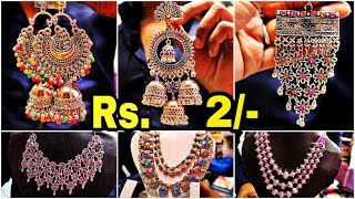 Cheapest Oxidised Jewellery Wholesale Market  New Collecion || Junk Jewellery Market in Kolkata