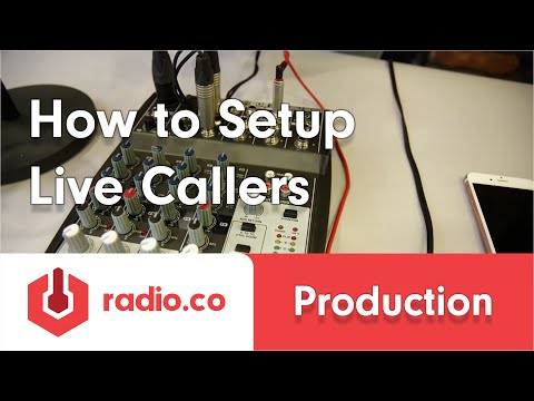 How To Setup Live Callers (Phone & Skype) for Internet Radio and Podcasting