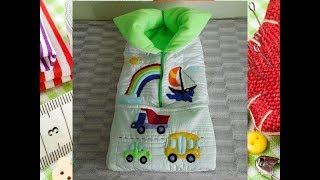 Конверт (одеяло-трансформер) на выписку новорожденного своими руками. Мастер-класс.