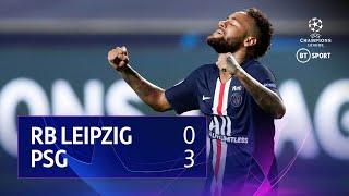 RB Leipzig vs PSG (0-3) | UEFA Champions League Highlights