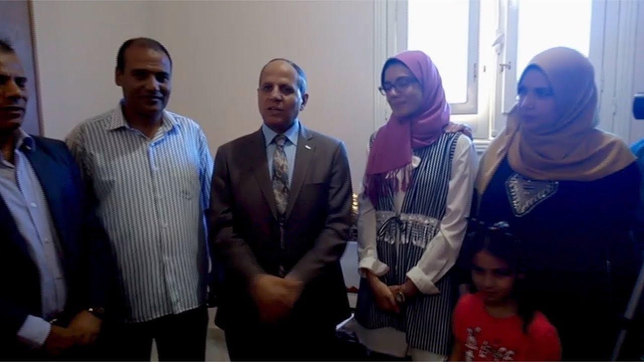 الوطن المصرية:محافظ الفيوم يكرّم الحاصلة على المركز الثاني في الثانوية العامة