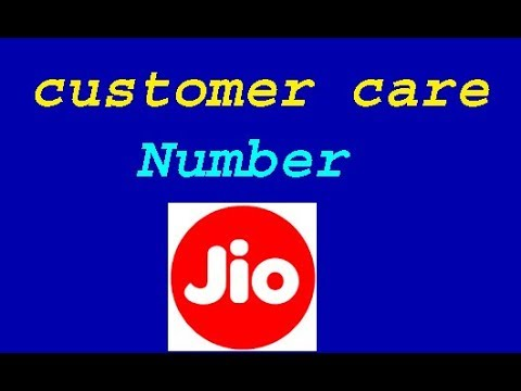jio customer care number toll free india