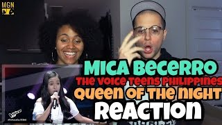 Mica Becerro - Queen Of The Night (The Voice Teens Philippines) Reaction