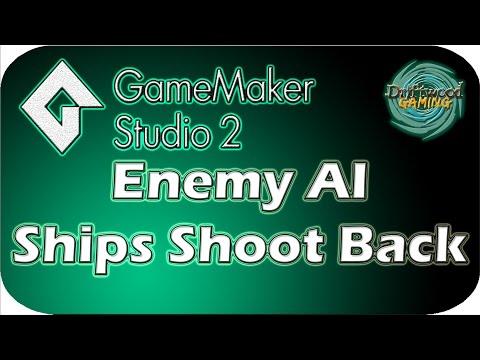 GMS2 Tutorial - Enemy AI - Ships Shoot Back - GameMaker Studio 2 Tutorial