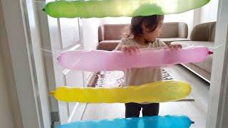 Renkli Komik Balonlar. Ayşe Ebrar Odada Hapis Kaldı. Playing With Colorful Balloons