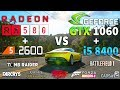RX 580 + R5 2600 vs GTX 1060 + i5 8400 Test in 7 Games