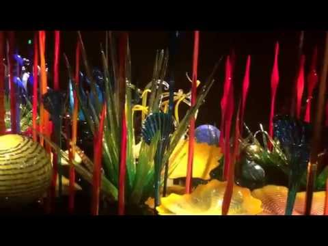 Visited Seattle Chihuly glass art exhibition in summer 2014