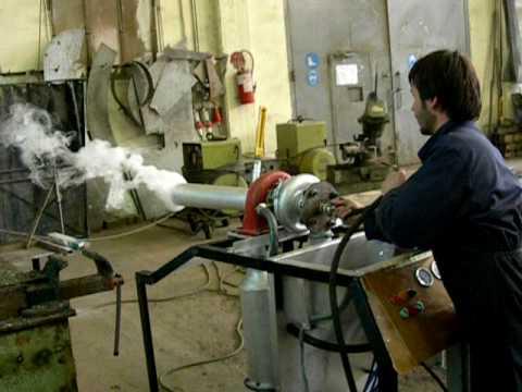 gas turbine by PZX University Of West Macedonia Kozani test