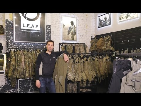Шоу-рум магазина тактического снаряжения LEAF