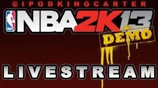 NBA 2K13 XBOX LIVESTREAM 09/25/2012 - Early Access Demo | Thunder vs. Heat Gameplay