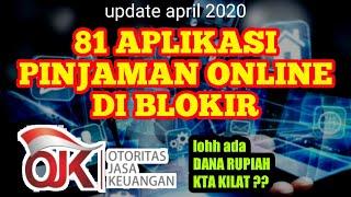Pinjaman Online Diblokir Ojk Terbaru 81 Pinjol Diblokir Otoritas Jasa Keuangan April 2020 Youtube