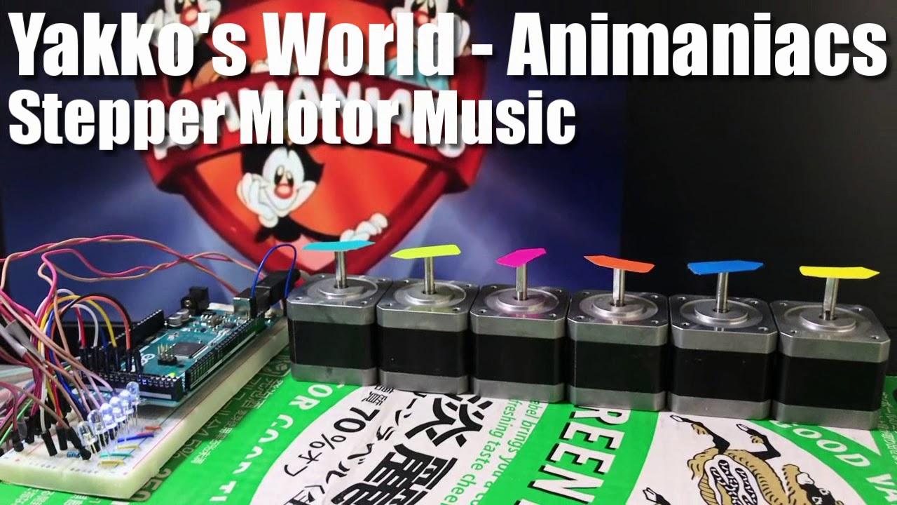 Yakko's World - Animaniacs Stepper Motor Music // Arduino