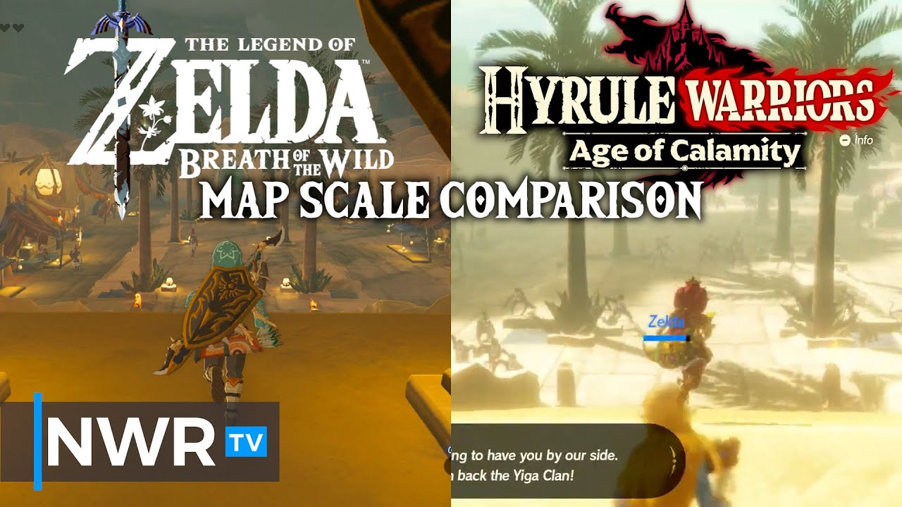 How Age Of Calamity Handles Scale Breath Of The Wild Vs Hyrule Warriors Youtube