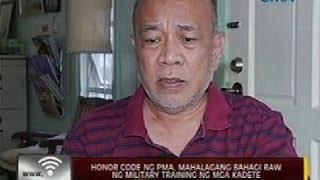 24Oras: Honor code ng PMA, mahalagang bahagi raw ng military training ng mga kadete