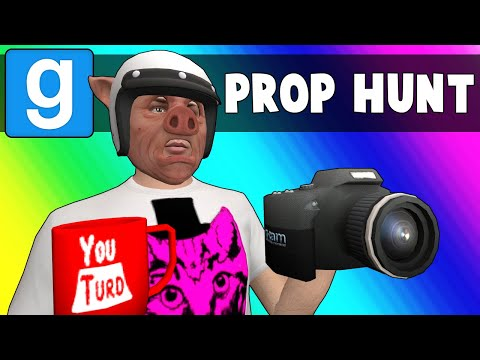 Gmod Prop Hunt Funny Moments - Vlogging at YouTurd HQ! (Garry's Mod)