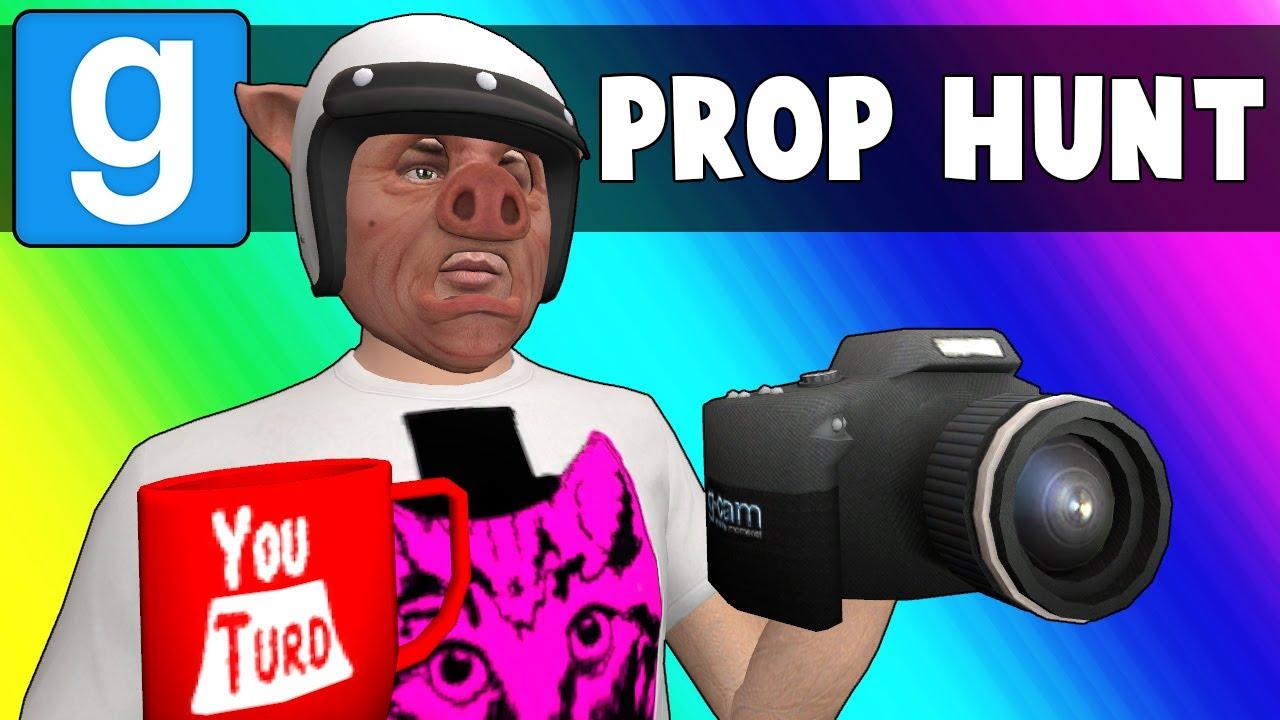 Gmod Prop Hunt Funny Moments - Vlogging at YouTurd HQ! (Garry's Mod)