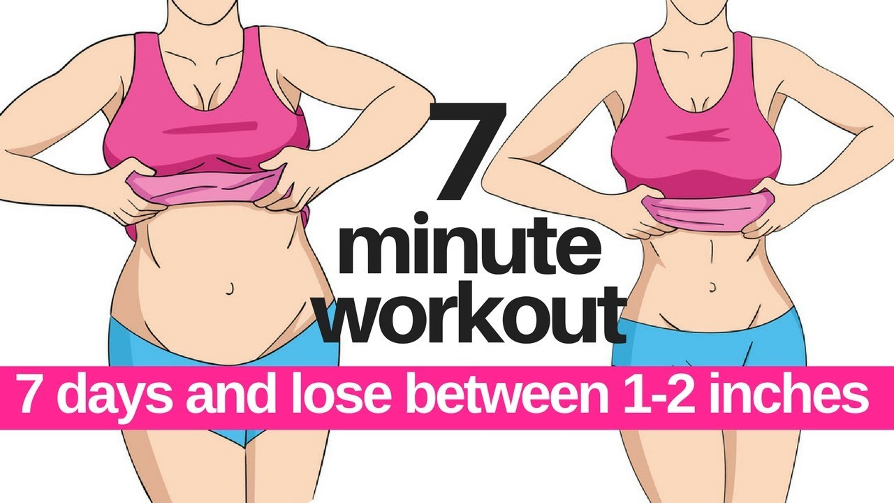 7 Day Challenge 7 Minute Workout To Lose Belly Fat Home Workout To Lose Inches Start Today