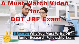 6 Reason Why You Must Write DBT Biotech Entrance exam for JRF