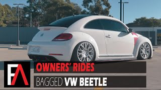 FUEL AUTOTEK Owners' Rides: Bagged 2013 Volkswagen Beetle | TSW Sebring Silver w/Mirror Cut Face