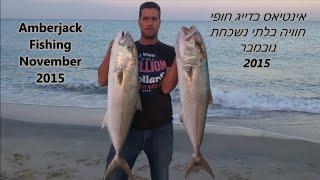 דייג-ליאור גכמן אינטיאס בדייג חוף 21/11/15 amberjack