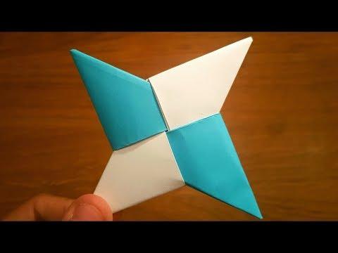 How to make a paper NINJA STAR that flies far